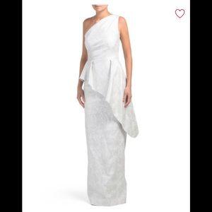 Amazing one shoulder peplum style dress